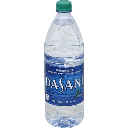 DASANI Purified Water Bottle, 1 Liter