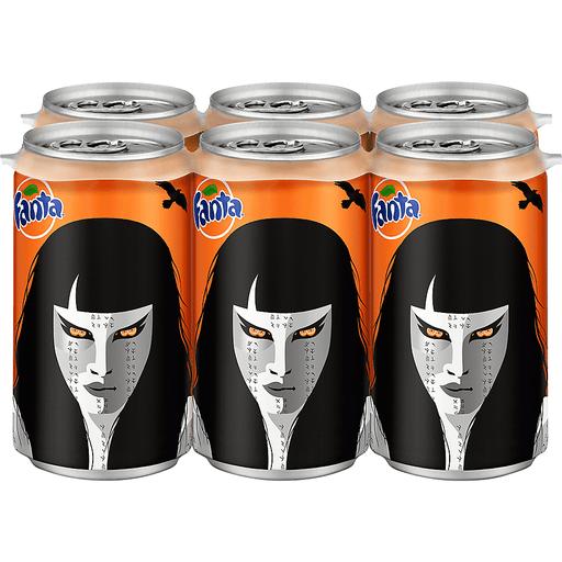 Fanta Orange Soda - 6 PK