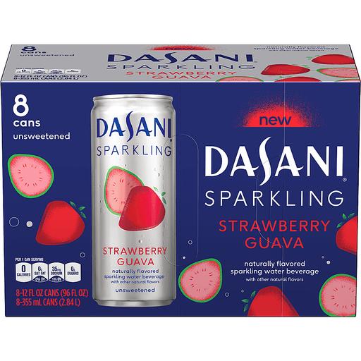 Dasani Sparkling Sparkling Water Beverage, Strawberry Guava