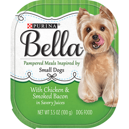 Purina Bella With Chicken & Smoked Bacon in Savory Juices Adult Wet Dog Food - 3.5 oz. Tray