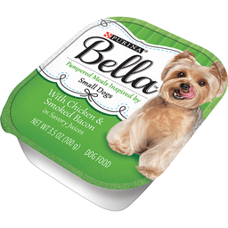 Purina Bella With Chicken & Smoked Bacon in Savory Juices Adult Wet Dog Food 3.5 oz. Tray