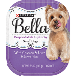 Purina Bella with Chicken & Liver in Savory Juices Adult Wet Dog Food 3.5 oz. Tub