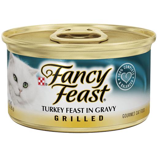 Fancy Feast Cat Food, Gourmet, Turkey Feast in Gravy, Grilled