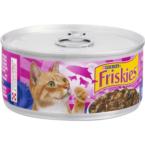 Friskies Prime Fillets Cat Food, with Salmon & Beef in Sauce