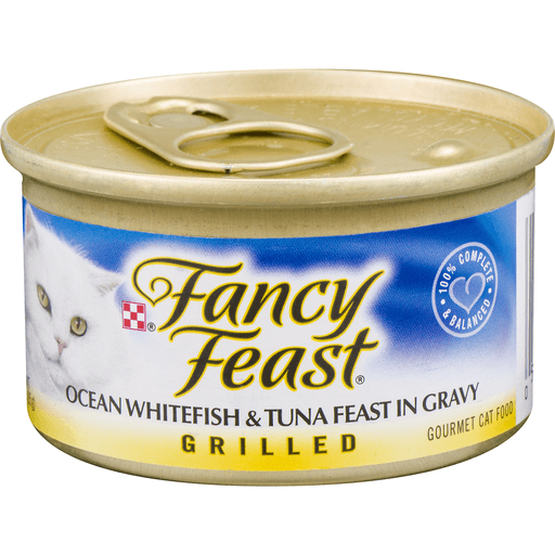 Fancy Feast Cat Food, Gourmet, Grilled, Ocean Whitefish & Tuna Feast in Gravy
