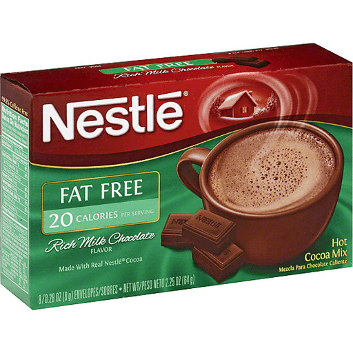 NESTLE Fat Free Rich Milk Chocolate Hot Cocoa Mix 8-.71 oz. Packets