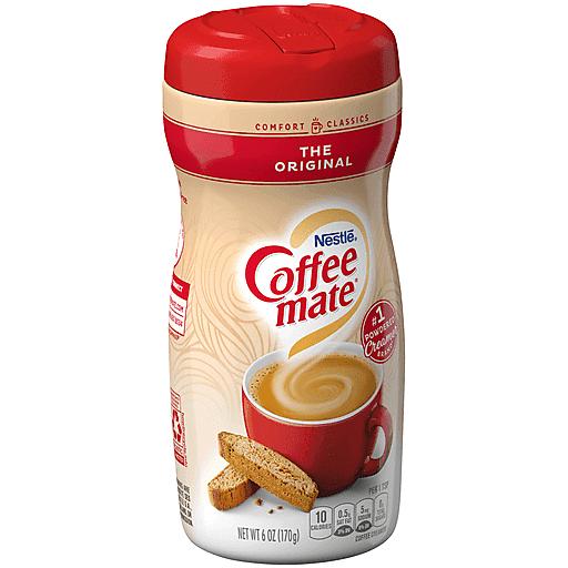 COFFEE MATE The Original Powdered Coffee Creamer 6 Oz. Canister   Non-Dairy, Lactose-Free, Cholesterol-Free, Gluten-Free Creamer