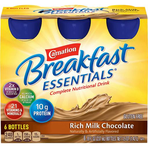 Carnation Breakfast Essentials Complete Nutritional Drink, Rich Milk Chocolate