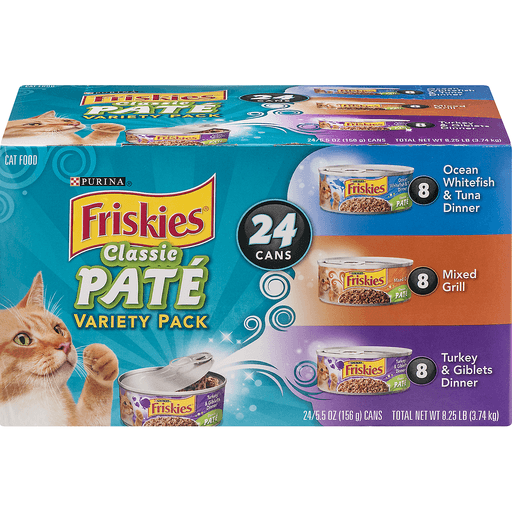 Friskies Classic Pate Cat Food, Variety Pack