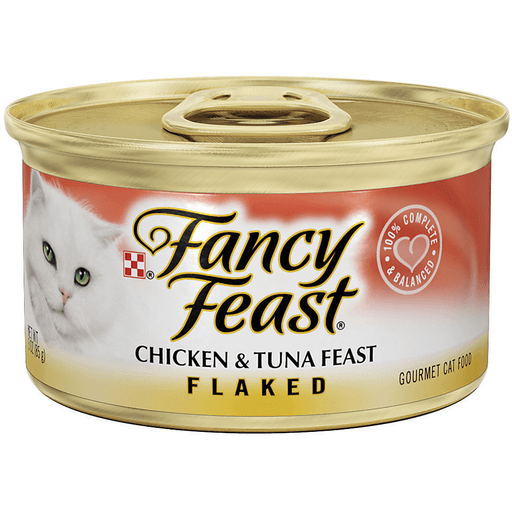 Fancy Feast Cat Food, Gourmet, Chicken & Tuna Feast, Flaked