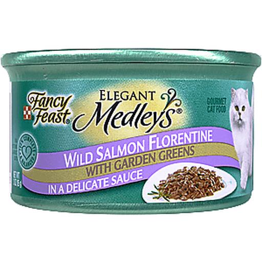 Fancy Feast Medleys Cat Food, Gourmet, Wild Salmon Florentine with Garden Greens in a Delicate Sauce