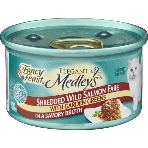 Fancy Feast Medleys Cat Food Shredded Wild Salmon Fare