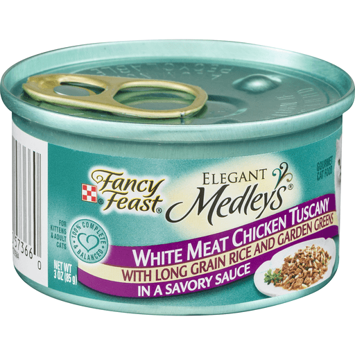 Fancy Feast Medleys Gourmet Cat Food White Meat Chicken Tuscany in a Savory Sauce