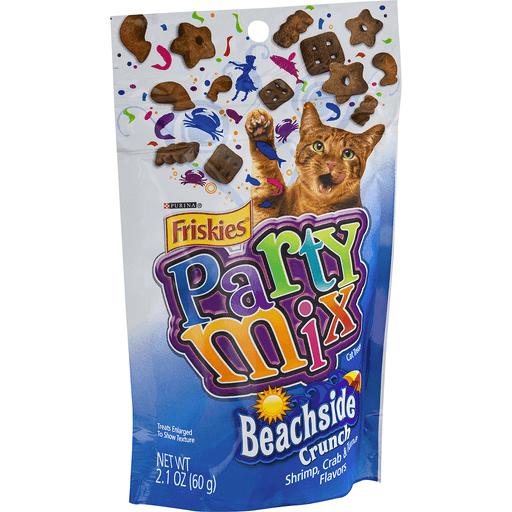 Friskies Party Mix Cat Treats, Crunch, Beachside