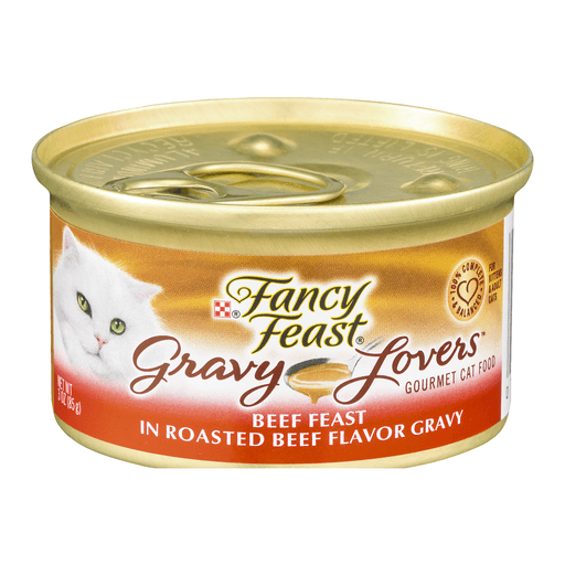 Fancy Feast Gravy Lovers Cat Food, Gourmet, Beef Feast in Roasted Beef Flavor Gravy