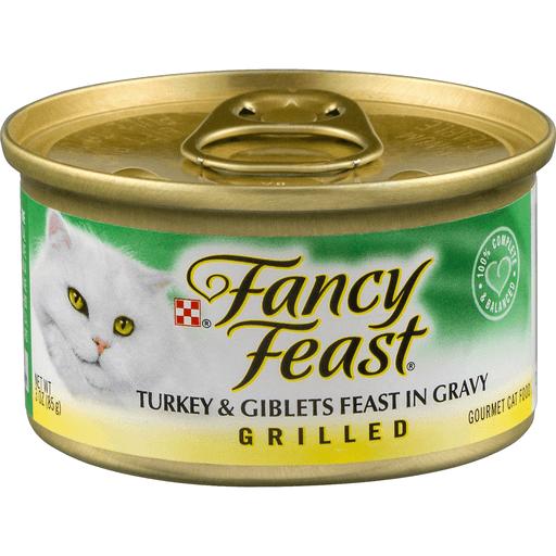 Fancy Feast Cat Food, Gourmet, Grilled, Turkey & Giblets Feast in Gravy