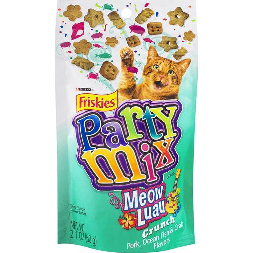 Purina Friskies Party Mix Cat Treats Meow Luau Crunch
