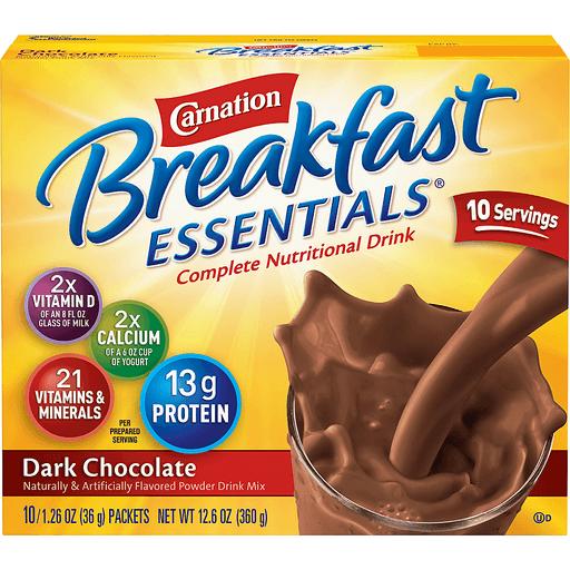 Carnation Instant Breakfast Essentials Complete Nutritional Drink, Dark Chocolate