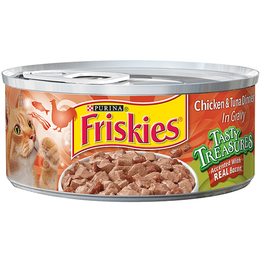 Purina Friskies Tasty Treasures Chicken & Tuna Dinner in Gravy