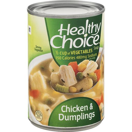 Healthy Choice Soup, Chicken & Dumplings