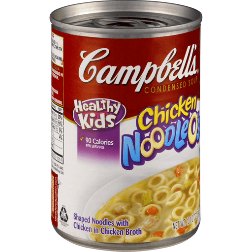 Campbells Healthy Kids Soup, Condensed, Chicken Noodle O's