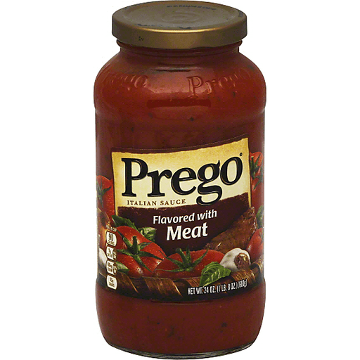 Prego Sauce, Flavored with Meat | Green