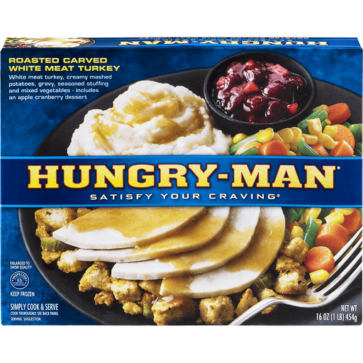 Hungry Man Turkey, Roasted Carved White Meat