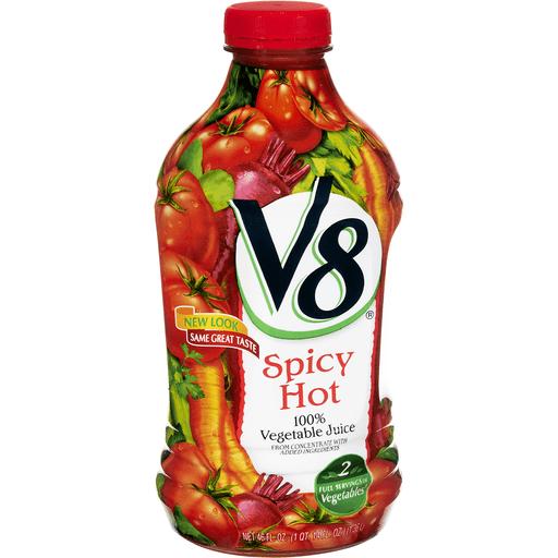 V8 100% Juice, Vegetable, Spicy Hot