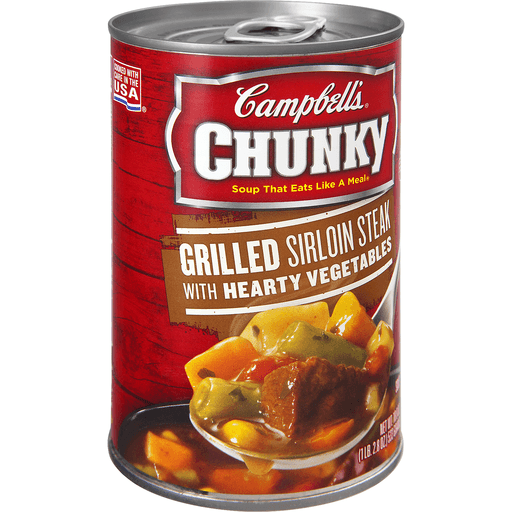 Campbell's® Chunky™ Grilled Sirloin Steak & Hearty Vegetables Soup, 18.8 oz.