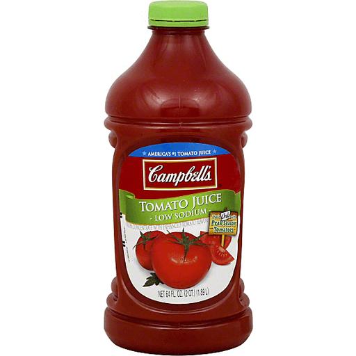 Low Sodium Tomato Juice, 64 oz