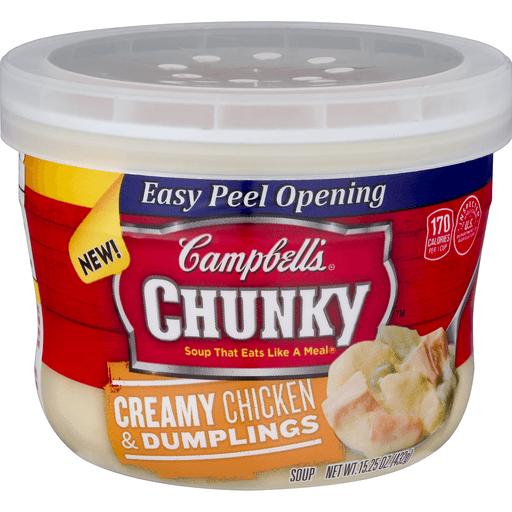 Campbells Chunky Soup, Creamy Chicken & Dumplings