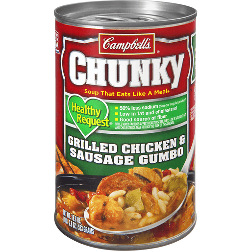 Campbells Chunky Healthy Request Soup, Grilled Chicken & Sausage Gumbo