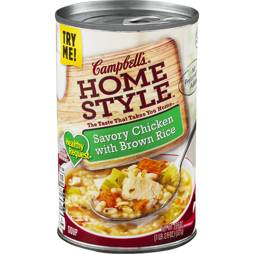Campbells Home Style Soup, Savory Chicken with Brown Rice