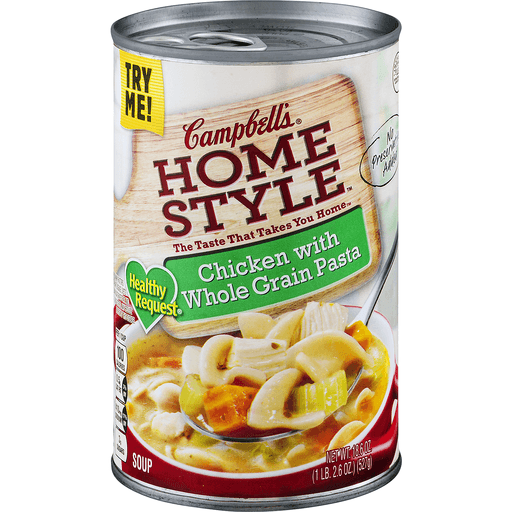 Campbells Home Style Soup, Chicken, with Whole Grain Pasta