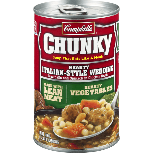 Campbells Chunky Soup, Hearty Italian-Style Wedding