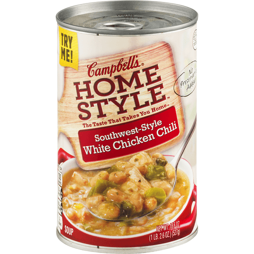 Campbell's® Homestyle Southwest-Style White Chicken Chili Soup, 18.6 oz.