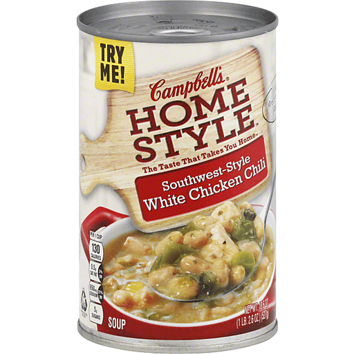 Campbell S Homestyle Southwest Style White Chicken Chili Soup 18 6 Oz Chicken Martin S Super Markets