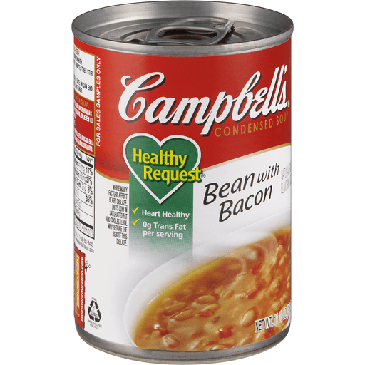 Campbells Healthy Request Soup, Condensed, Bean with Bacon