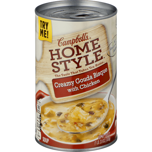 Campbells Home Style Soup, Creamy Gouda Bisque with Chicken