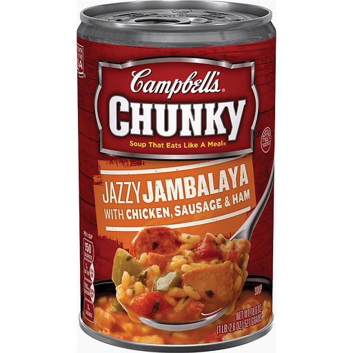 Campbell's® Chunky™ Jazzy Jambalaya with Chicken, Sausage & Ham Soup, 18.6 oz.