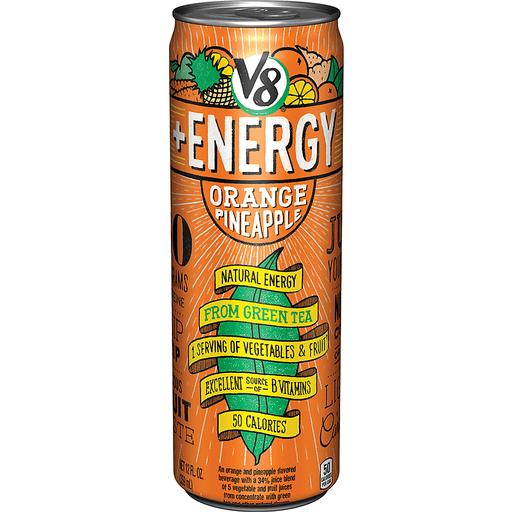 V8 +Energy® Sparkling Orange Pineapple, 12 oz.
