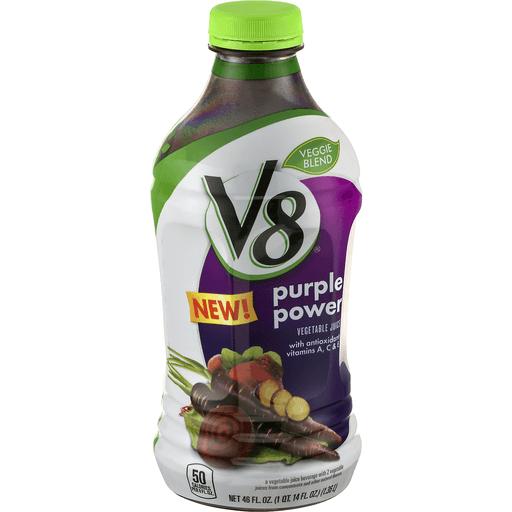 V8 Vegetable & Fruit Beverage, Purple Power