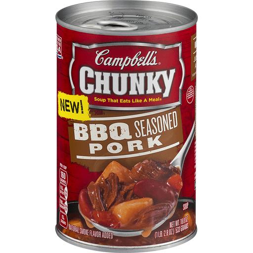 Campbells Chunky Soup, BBQ Seasoned Pork