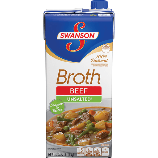 Swanson Broth, Unsalted, Beef