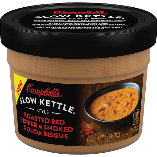 Campbells Slow Kettle Style Soup, Roasted Red Pepper & Smoked Gouda Bisque