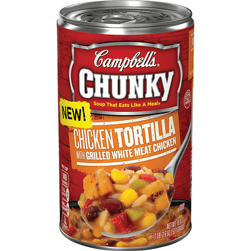 Campbells Chunky Soup, Chicken Tortilla with Grilled White Meat Chicken
