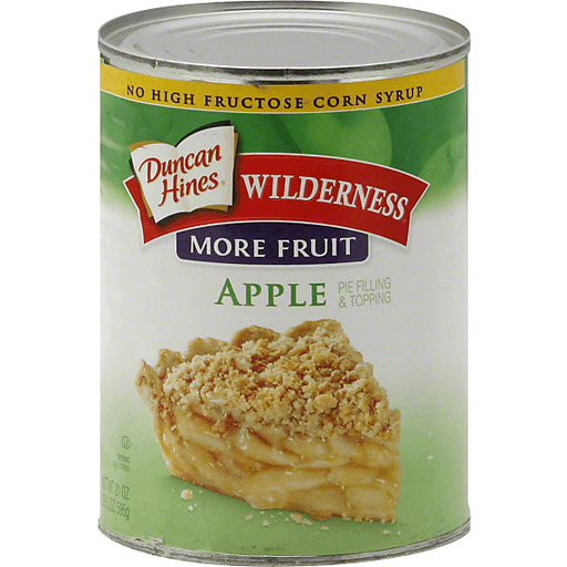 Duncan Hines Wilderness Pie Filling & Topping, More Fruit, Apple