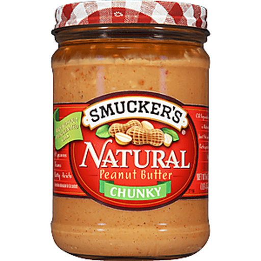 Smuckers Natural Peanut Butter, Chunky