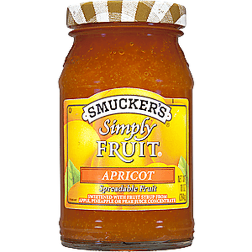 Smuckers Simply Fruit Spreadable Fruit, Apricot