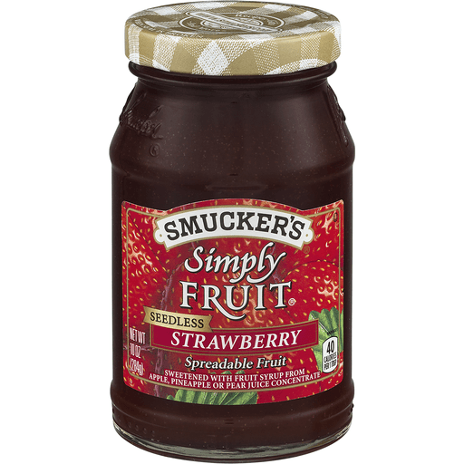 Smuckers Simply Fruit Spreadable Fruit, Strawberry, Seedless